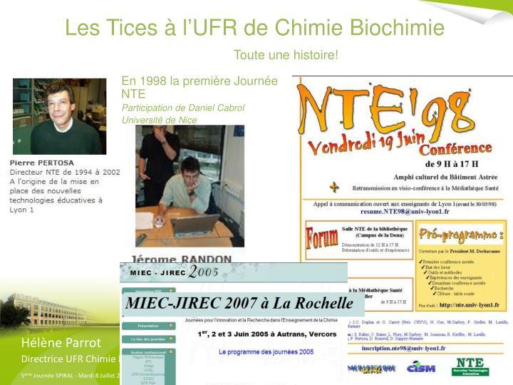 Les Tices à l'UFR de Chimie Biochimie