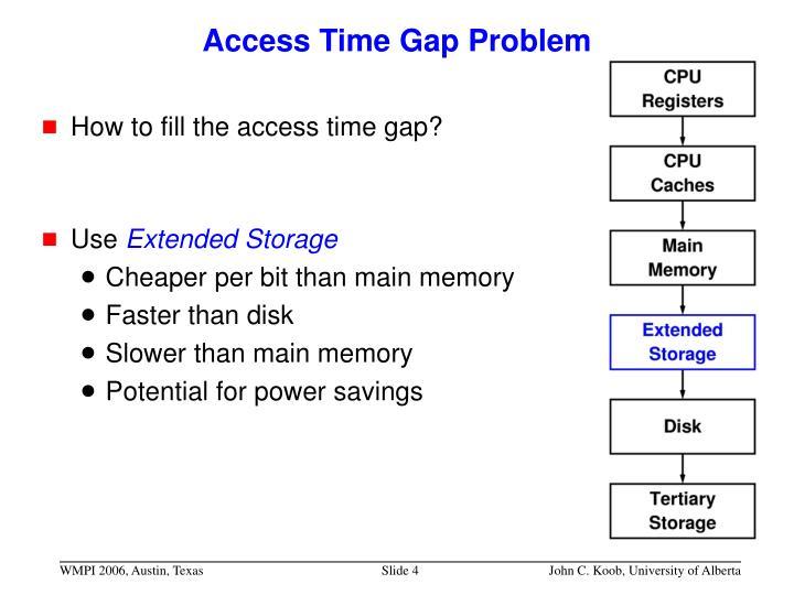 Access Time Gap Problem