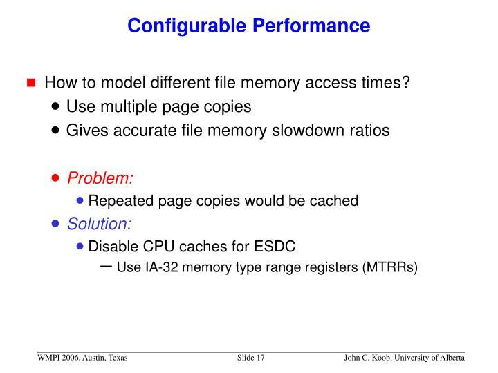 Configurable Performance
