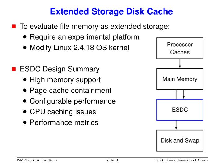 Extended Storage Disk Cache
