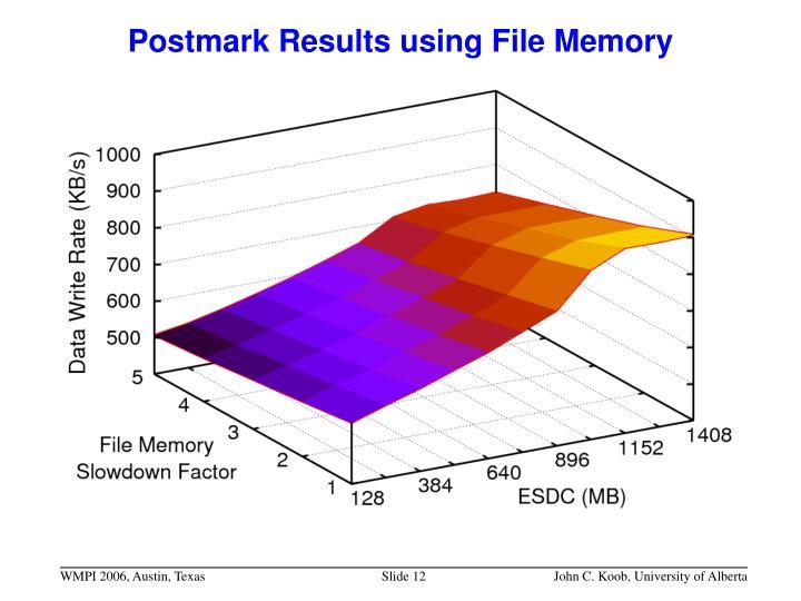 Postmark Results using File Memory