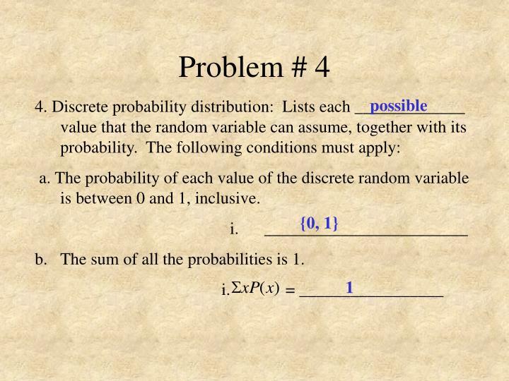 Problem # 4