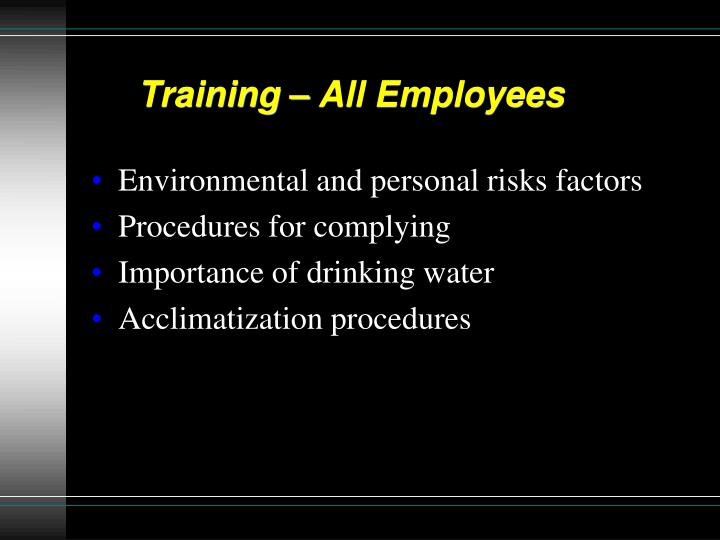 Training – All Employees