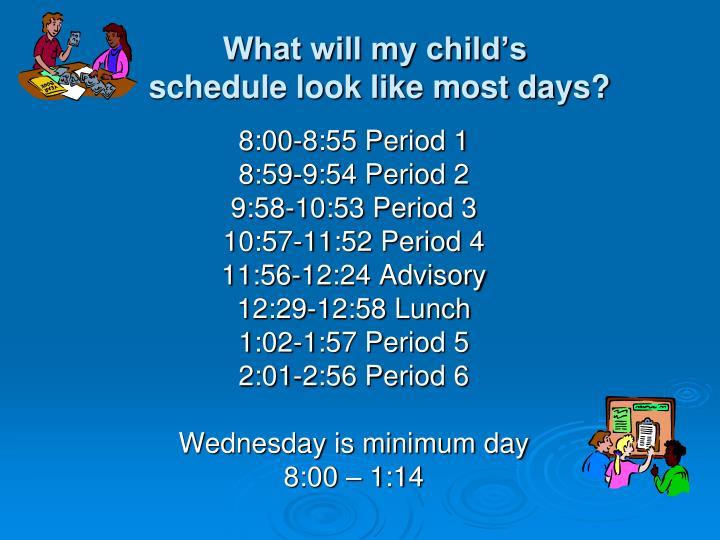What will my child's