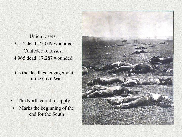 Union losses:
