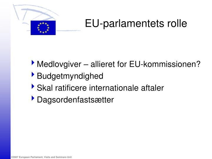 EU-parlamentets rolle