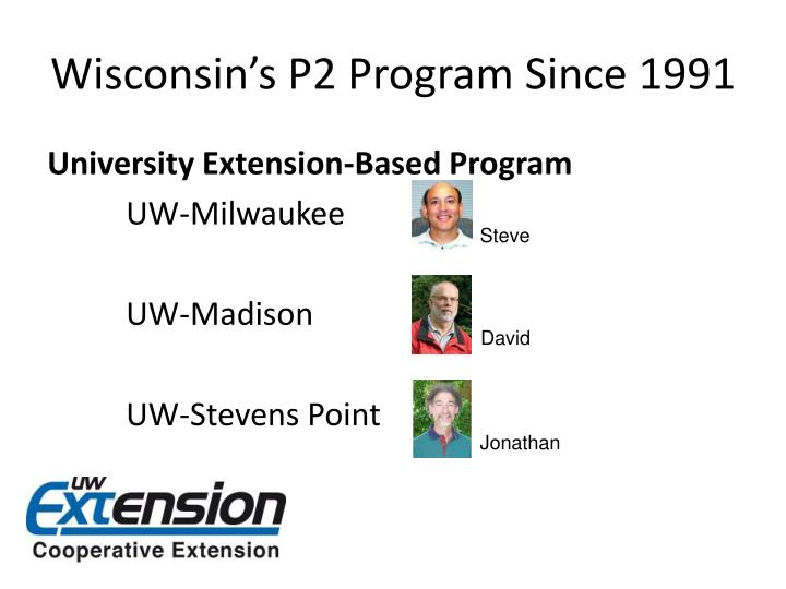 Wisconsin's P2 Program Since 1991