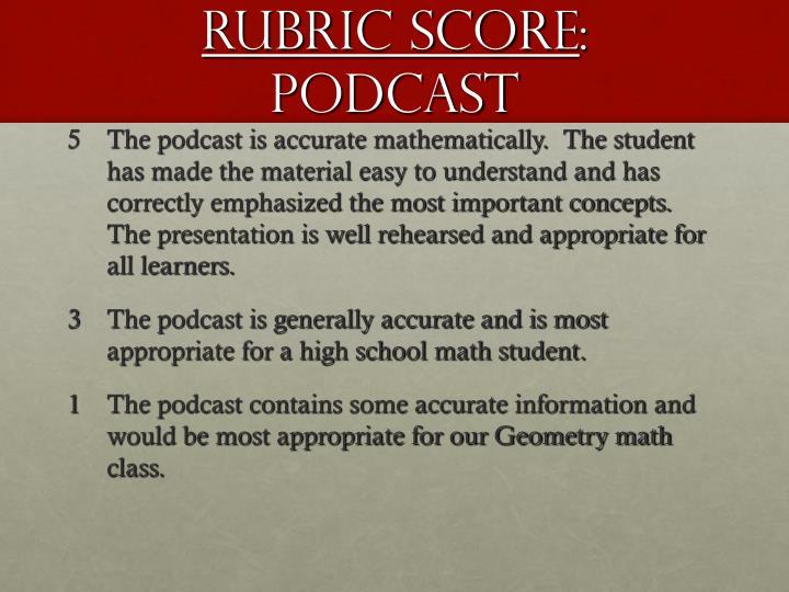 Rubric Score