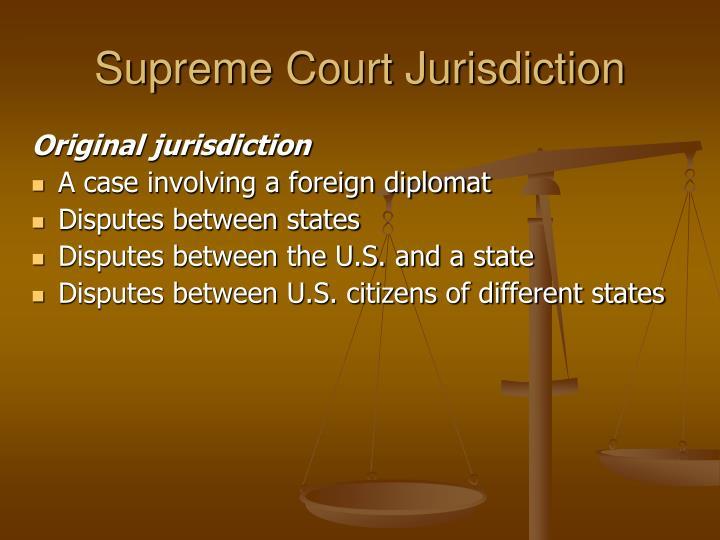 Supreme Court Jurisdiction