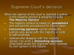 supreme court s decision