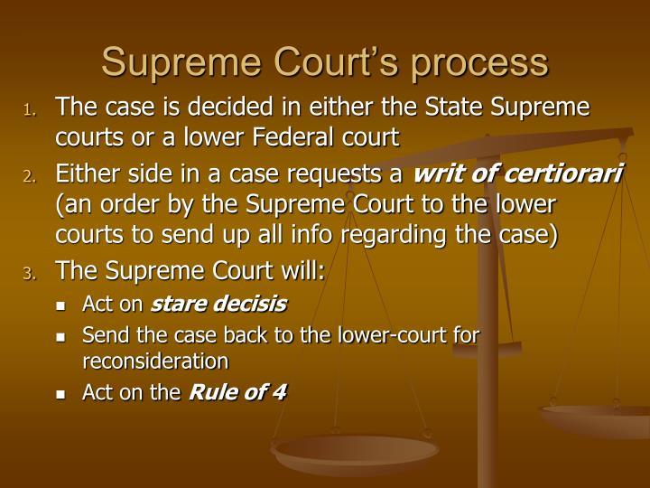 Supreme Court's process