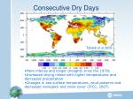 consecutive dry days