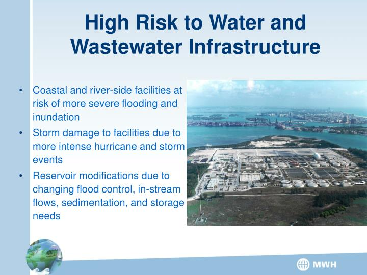 High Risk to Water and Wastewater Infrastructure
