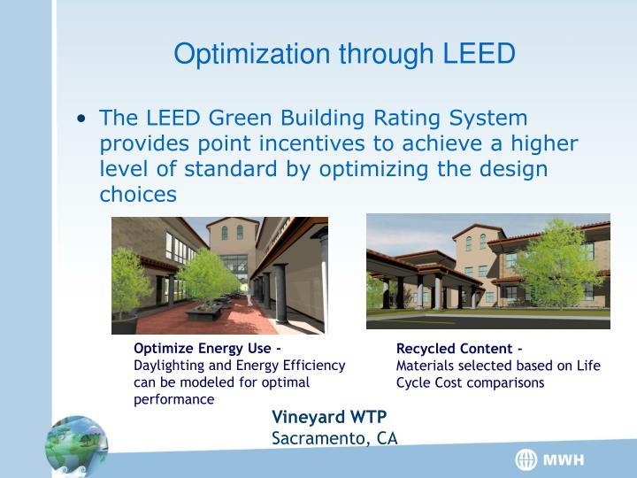 Optimization through LEED