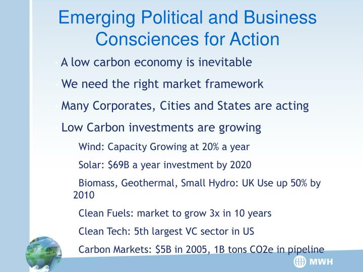 Emerging Political and Business Consciences for Action