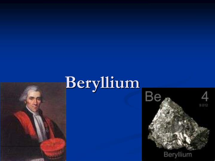 Facts About Beryllium