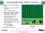existing fnal chip fpix2 1 features