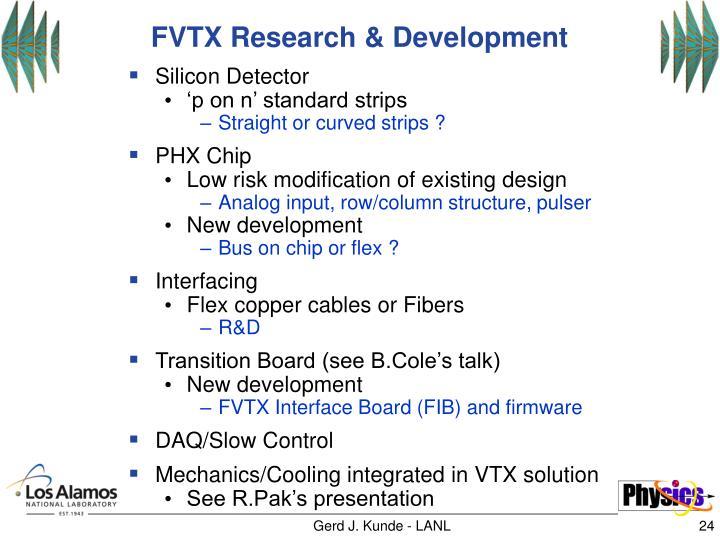 FVTX Research & Development