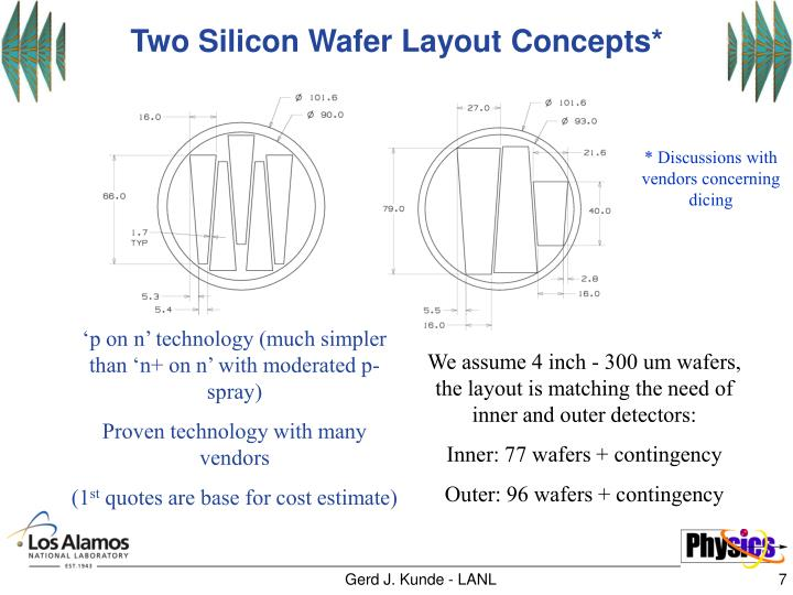Two Silicon Wafer Layout Concepts*