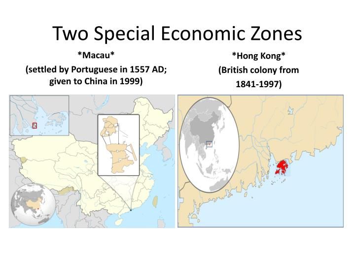 Two special economic zones