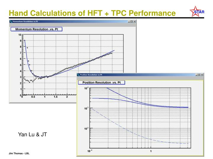 Hand Calculations of HFT + TPC Performance