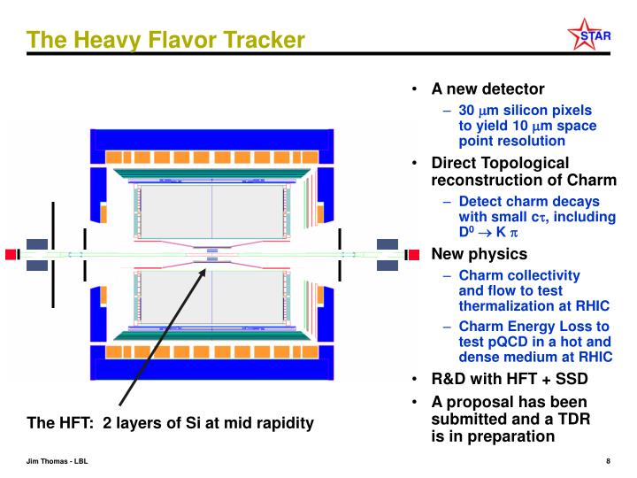 The HFT:  2 layers of Si at mid rapidity