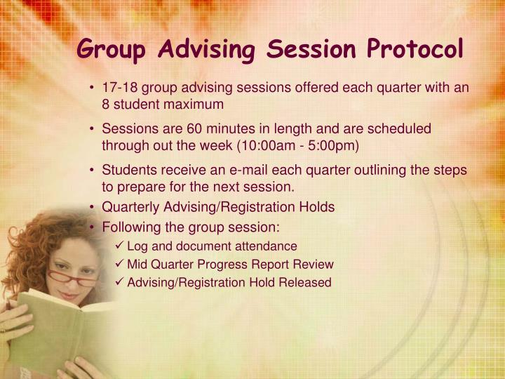 Group Advising Session Protocol
