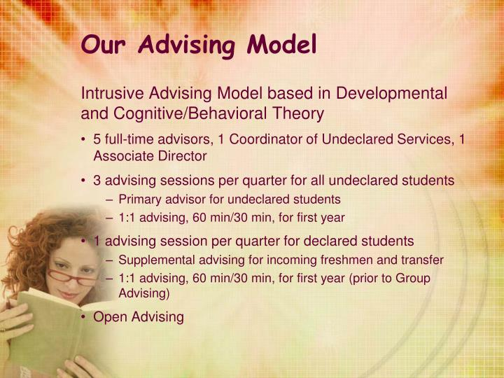 Our Advising Model