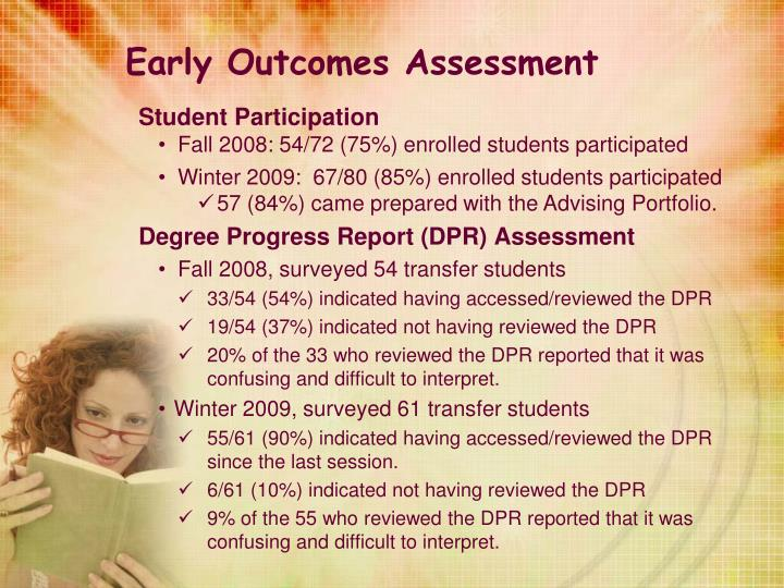 Early Outcomes Assessment
