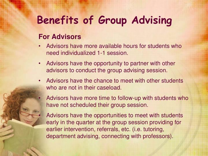 Benefits of Group Advising