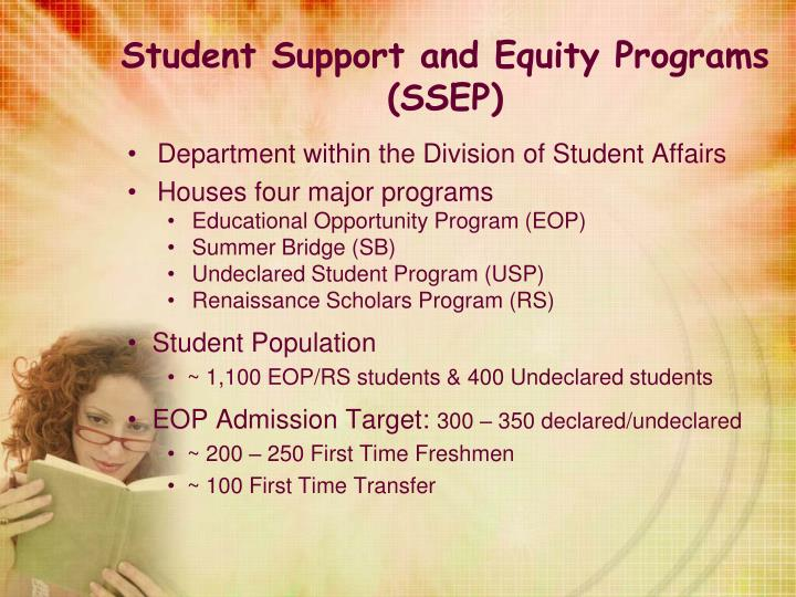 Student Support and Equity Programs (SSEP)