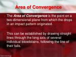area of convergence