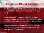 expirated blood patterns
