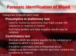 forensic identification of blood