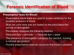 forensic identification of blood1