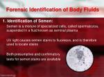 forensic identification of body fluids