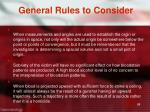 general rules to consider3