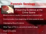 preserving evidence at the crime scene