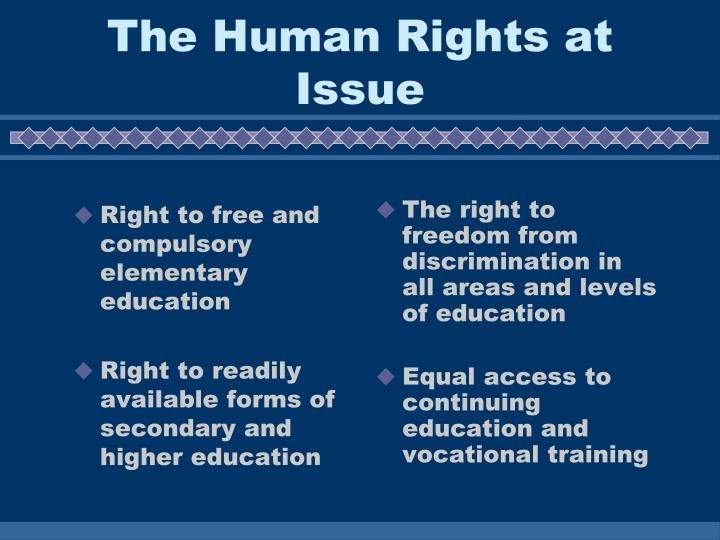 Right to free and compulsory elementary education