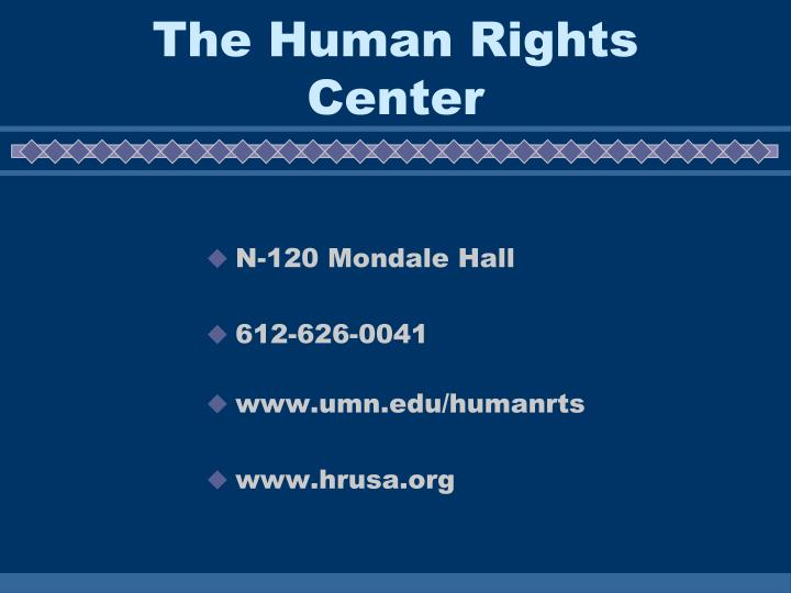 The Human Rights Center