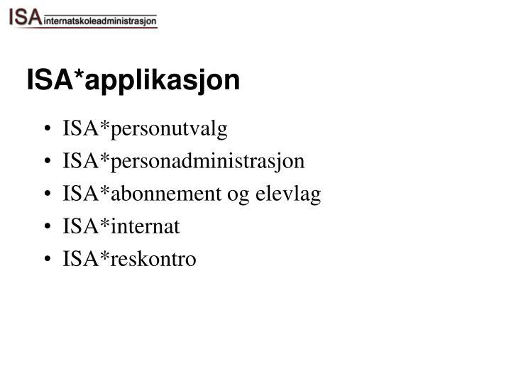 ISA*applikasjon
