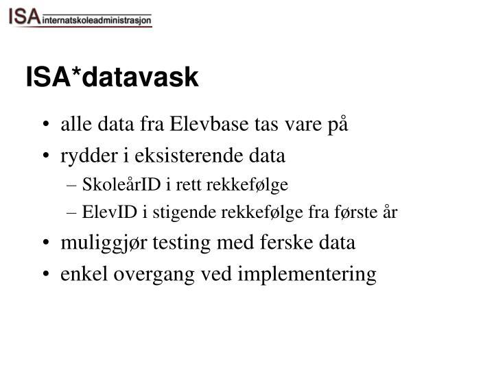 ISA*datavask