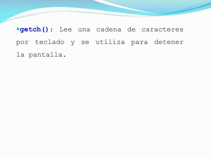 getch()