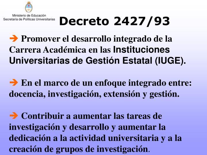 Decreto 2427/93
