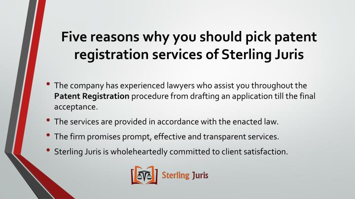 Five reasons why you should pick patent registration services of sterling juris