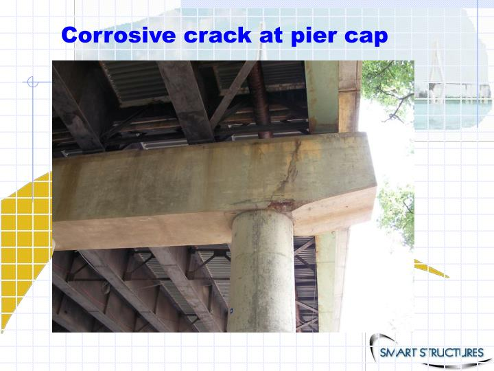Corrosive crack at pier cap