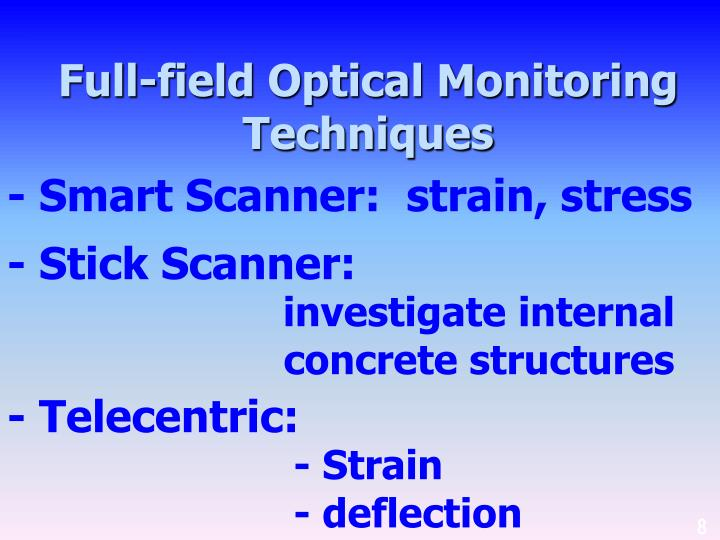 Full-field Optical Monitoring Techniques