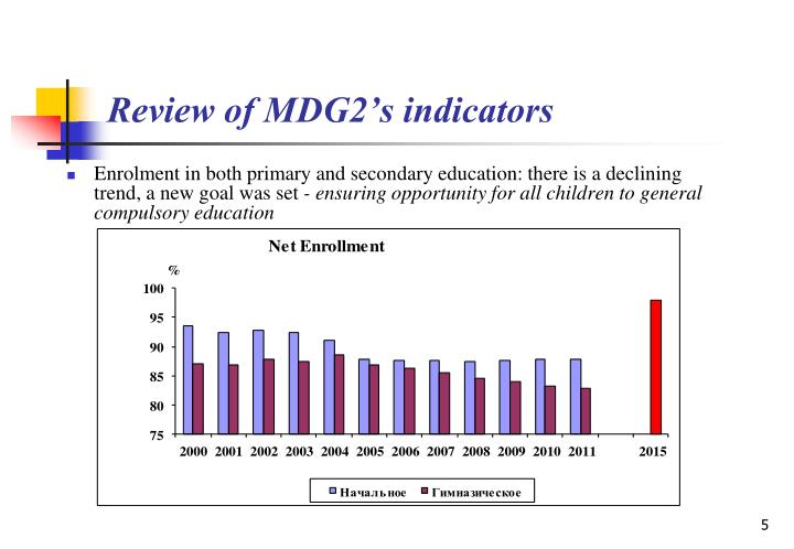 Review of MDG2's indicators
