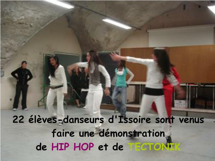 22 élèves-danseurs d'Issoire sont venus