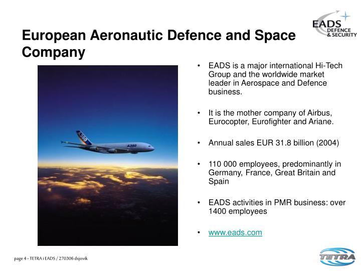 European Aeronautic Defence and Space Company